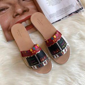 Kate Spade Viva El Taco Leather Slides Sandals 9M